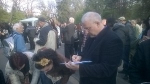 Протест за Карадере- 13.04.2014